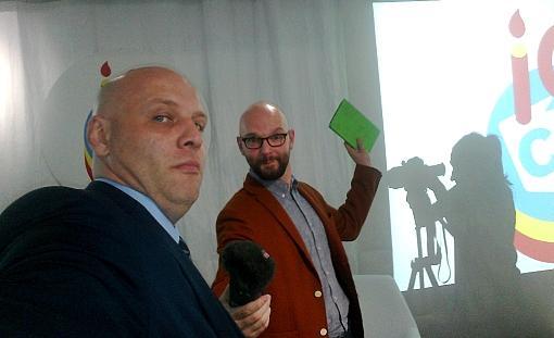 Piotr Waglowski Kamil Śliwowski na urodzinach Creative Commons Polska