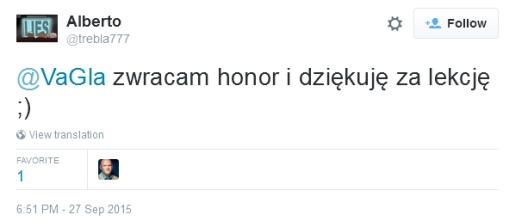 Alberto: zwracam honor i dziękuję za lekcję :)