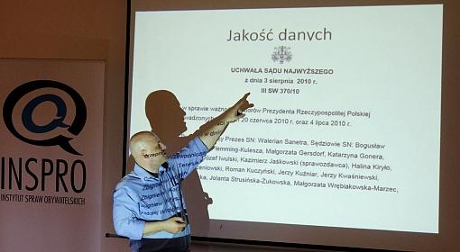 Piotr Waglowski w czasie warsztatów INSPRO