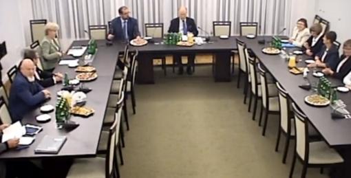 Posiedzenie sanackiej Komisji Praw Człowieka, Praworządności i Petycji