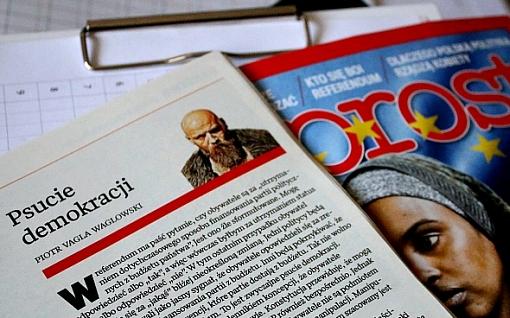 zdjęcie fragmentu felietonu w tygodniku Wprost