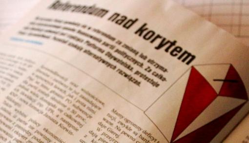 Cover tekstu o pytaniach referendalnych w Najwyższym Czasie