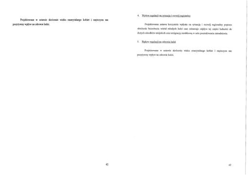 Strony 42 dwóch projektów - jednego opublikowanego w serwisie FB, drugiego na stronie prezydenckiej