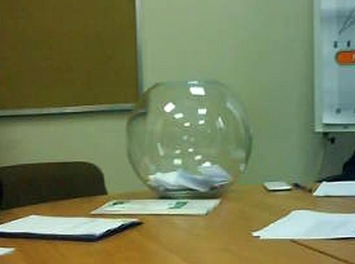Szklana kula do losowania czasów wywiadów