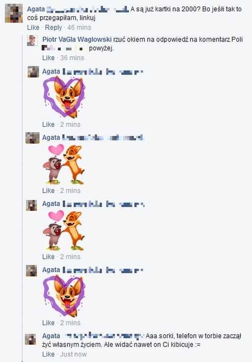 Fragment dyskusji w serwisie Facebook