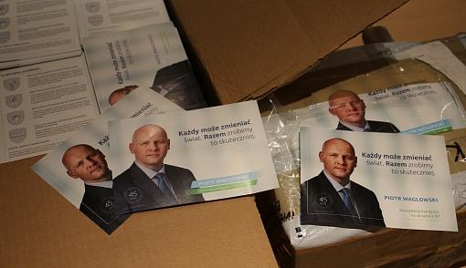 Ulotki wyborcze Piotra Waglowskiego