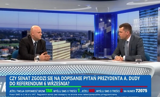 Wywiad w TV Republika
