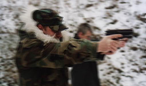 Piotr Waglowski na strzelnicy
