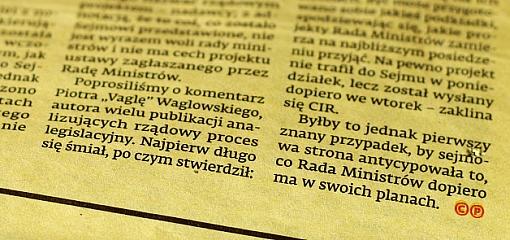 Fragment artykułu z Dziennika Gazety Prawnej