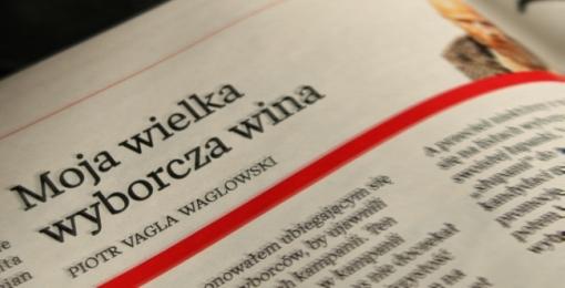 Tytuł felietonu o finansowaniu partii politycznych, który ukazał się w tygodniku Wprost